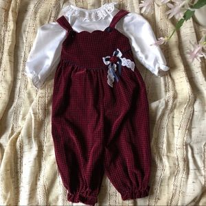 Vintage Houndstooth Velvet Outfit